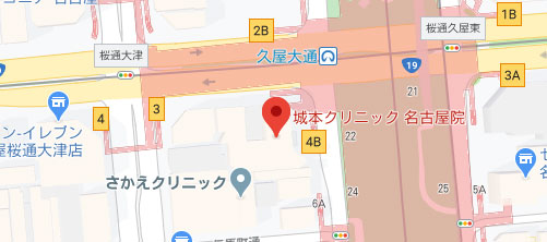 城本クリニック 名古屋院地図