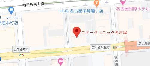 ニドークリニック 名古屋地図