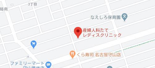 たてレディスクリニック地図