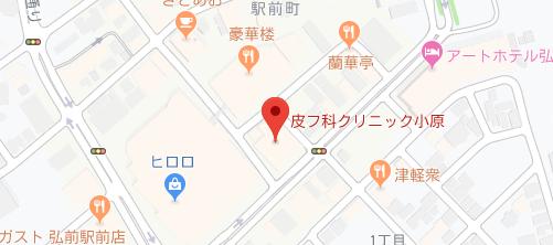 皮フ科クリニック小原地図