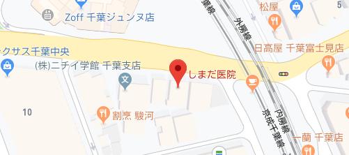 しまだ医院地図
