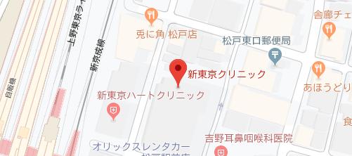 美容医療・レーザー治療センター 新東京クリニック地図