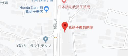 我孫子東邦病院地図
