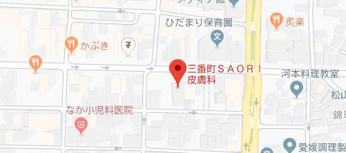 三番町SAORI皮膚科地図