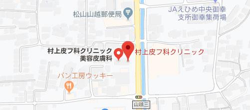 村上皮フ科クリニック地図