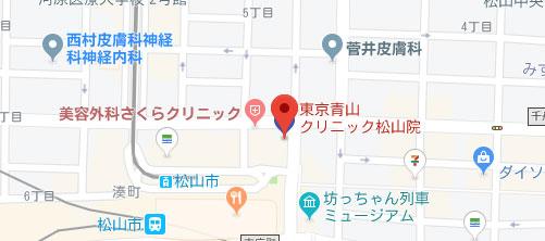東京青山クリニック 愛媛松山院地図
