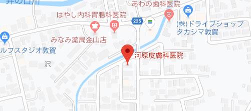 河原皮膚科医院地図