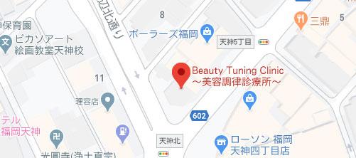 BEAUTY TUNING CLINIC 美容調律診療所地図