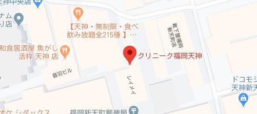 クリニーク福岡天神地図