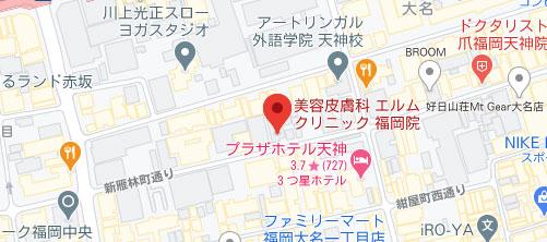 美容皮膚科 エルムクリニック 福岡院地図