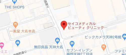セイコメディカルビューティクリニック 福岡院地図