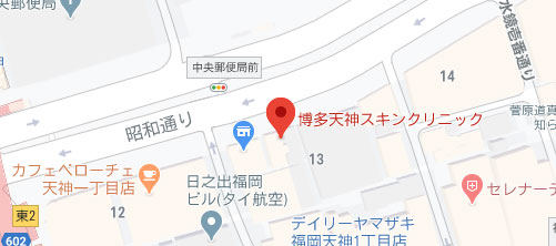 博多天神スキンクリニック地図