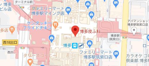 博多皮ふ科地図
