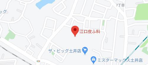 江口皮ふ科地図