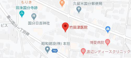 竹田津医院地図