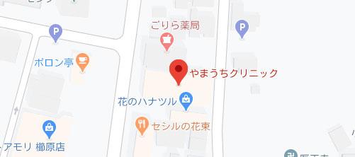 やまうちクリニック地図