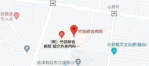 竹田総合病院 皮膚科地図