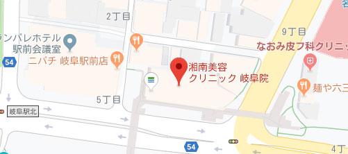 湘南美容クリニック 岐阜院地図