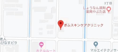 ぎふスキンケアクリニック地図