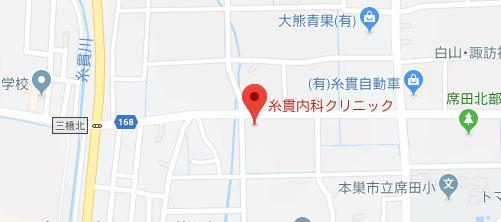 糸貫内科クリニック地図