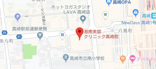 湘南美容クリニック 高崎院地図