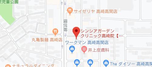 シンシアガーデンクリニック 高崎院地図
