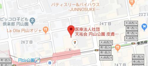 円山公園皮膚科形成外科地図