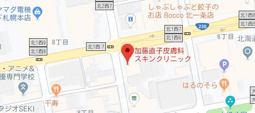加藤直子皮膚科スキンクリニック地図