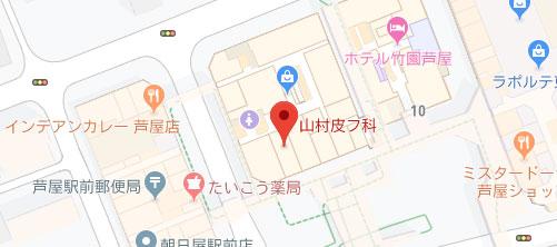 山村皮フ科地図
