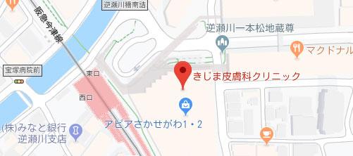 きじま皮フ科クリニック地図