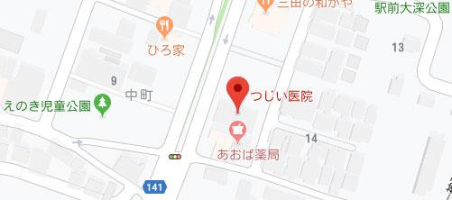 つじい医院地図