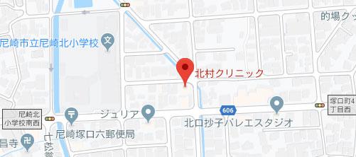 北村クリニック地図