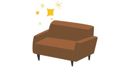 個別待合スペースのソファ