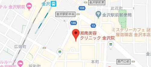 湘南美容クリニック 金沢院地図