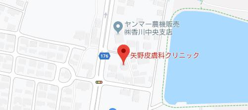 矢野皮膚科クリニック 地図