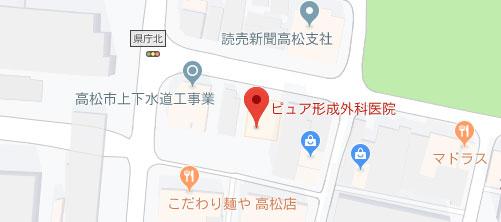ピュア形成外科医院地図