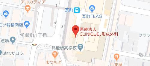 医療法人CLINIQUEJ形成外科地図