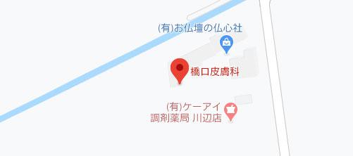 橋口皮膚科地図