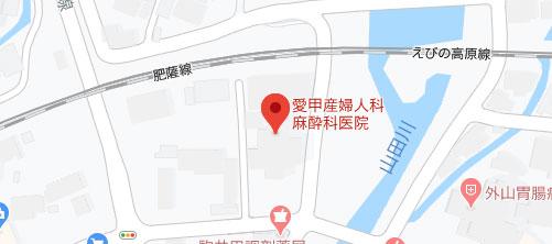 愛甲産婦人科麻酔科医院地図