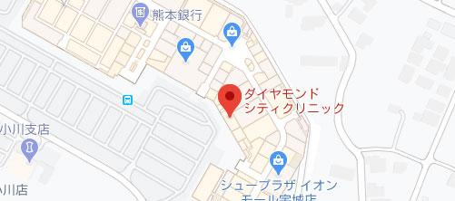 ダイヤモンドシティクリニック地図