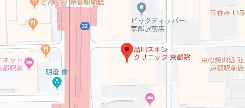 品川スキンクリニック 京都院地図