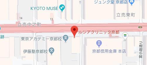 ルシアクリニック 京都院地図