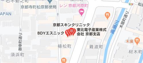 スキンクリニック 京都院地図