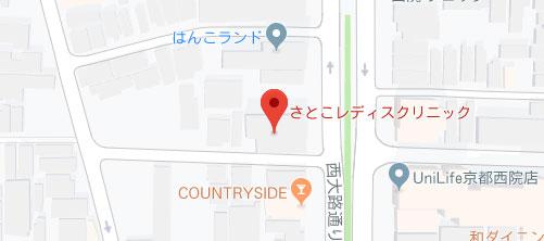 さとこレディスクリニック地図