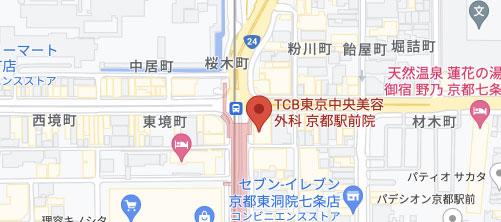 東京中央美容外科 京都院地図