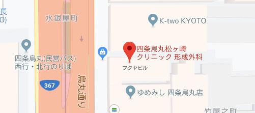 四条烏丸 松ヶ崎クリニック 地図