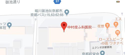 中村皮ふ科医院地図