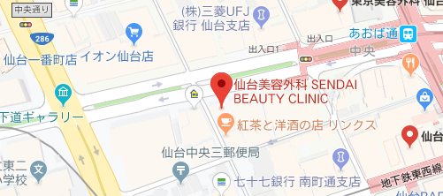 CLASSY 仙台美容外科・美容皮膚科地図