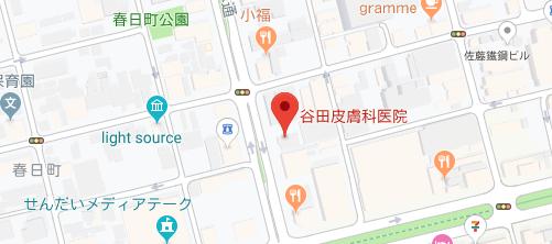 谷田皮膚科医院地図