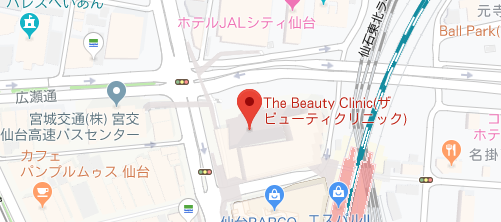 THE BEAUTY CLINIC SENDAI地図